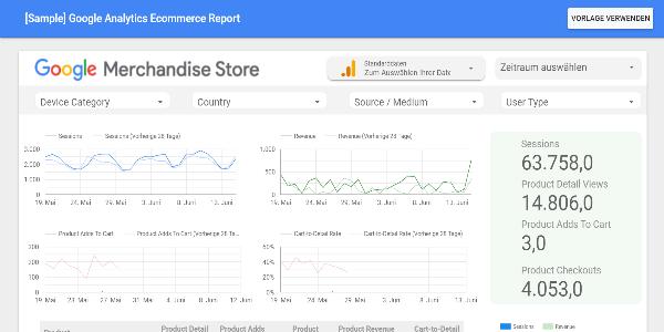 Screenshot Google Data Studio